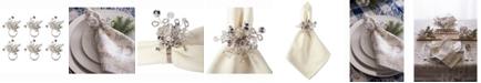 Design Imports Multi Bead Napkin Ring, Set of 6