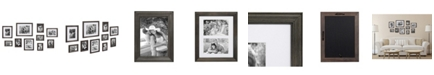 Kate and Laurel Bordeaux Gallery Wall Wood Picture Frame Set, Set of 10