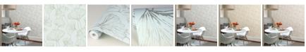 "Brewster Home Fashions Reverie Ginkgo Wallpaper - 396"" x 20.5"" x 0.025"""