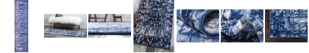 "Bridgeport Home Aldrose Ald3 Blue 2' 7"" x 10' Runner Area Rug"