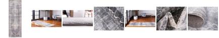 "Bridgeport Home Anika Ani1 Gray 2' 2"" x 6' Runner Area Rug"