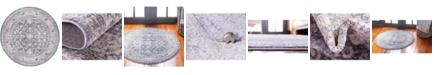 Bridgeport Home Anika Ani2 Gray 6' x 6' Round Area Rug