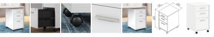 Kathy Ireland Office by Bush Furniture Method 3 Drawer Mobile File Cabinet - Assembled