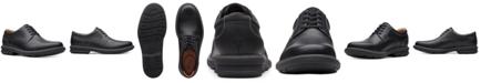 Clarks Men's Rendell Plain Black Leather Casual Oxfords