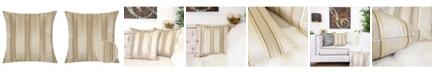 Homey Cozy Madison Stripe Square Decorative Throw Pillow