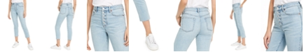 OAT Button-Fly Cropped Jeans