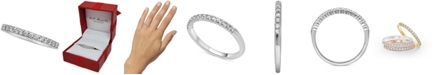 Macy's Diamond Band (1/4 ct. t.w.) in 14k White, Yellow, or Rose Gold