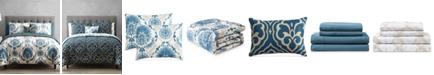 Hallmart Collectibles Scroll Medallion 9-Pc. Reversible Twin Comforter Set