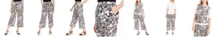 Charter Club Printed Wide-Leg Capri Pants, Created for Macy's