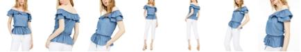 Michael Kors Flounce Off-The-Shoulder Peplum Top, Available in Regular & Petites