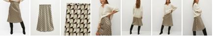 MANGO Women's Geometric Print Skirt