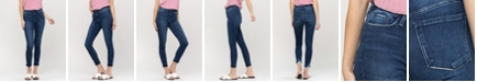 FLYING MONKEY Women's High Rise Seamless Waistband Ankle Skinny Jeans