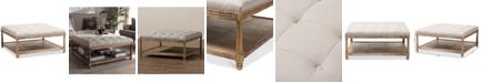 Furniture Carlotta Square Ottoman