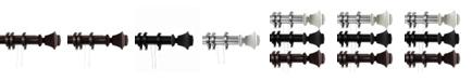 "Rod Desyne Bach Decorative Traverse Rod w/ Rings 30""- 48"""