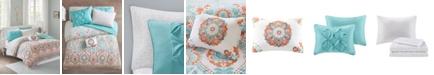 JLA Home Intelligent Design Vinnie Full 8 Piece Comforter and Sheet Set