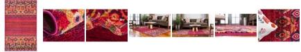 "Bridgeport Home Sana San3 Fuchsia 3' 3"" x 5' 3"" Area Rug"