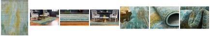 Bridgeport Home Adah Ada2 Turquoise 10' x 13' Area Rug