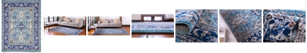 Bridgeport Home Wisdom Wis2 Blue 9' x 12' Area Rug