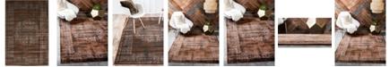 Bridgeport Home Linport Lin5 Chocolate Brown 4' x 6' Area Rug