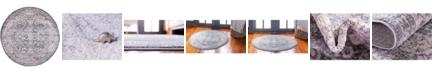 "Bridgeport Home Anika Ani2 Gray 3' 3"" x 3' 3"" Round Area Rug"