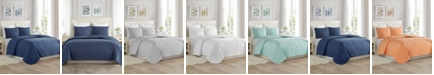 Cathay Home Inc. Super Soft Dot Embroidery Quilt Set - Twin/Twin XL
