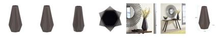 Howard Elliott Graphite Geometric Star Vase, Large