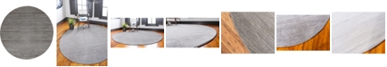 Jill Zarin Madison Avenue Uptown Jzu001 Gray 8' x 8' Round Rug