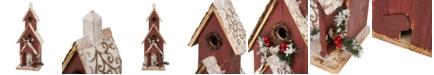 Glitzhome Oversized Wooden Church Birdhouse