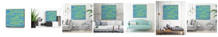 """Giant Art 30"""" x 30"""" Modern Circuit V Art Block Framed Canvas"""
