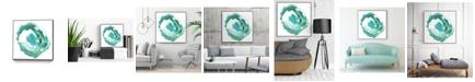 """Giant Art 20"""" x 20"""" Geode Abstract II Art Block Framed Canvas"""