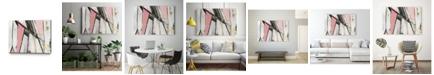 "Giant Art 20"" x 16"" Warm Geometric I Blush Version Museum Mounted Canvas Print"