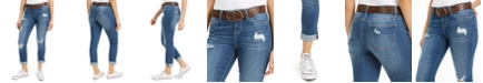 Dollhouse Juniors' Destructed Cuffed Jeans With Belt