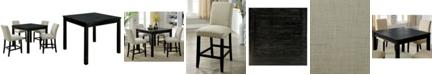 Furniture of America Sewanee 5-Piece Counter Table Set