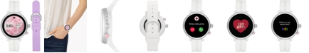 kate spade new york Women's Sport Scalloped White Silicone Strap Touchscreen Smart Watch 41mm Gift Set