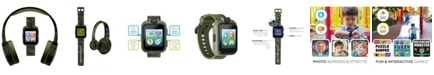 iTouch Kid's Playzoom Green Camouflage Print Tpu Strap Smart Watch with Headphones Set 41mm