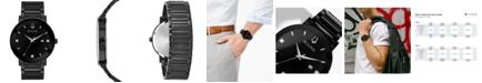 Bulova Men's Futuro Diamond-Accent Black Stainless Steel Bracelet Watch 42mm