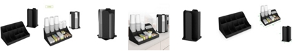 Mind Reader Cup and Lid Organizer, Black