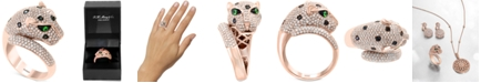 EFFY Collection EFFY® Diamond (1-1/2 ct. t.w.) & Tsavorite Accent Panther Ring in 14k Rose Gold