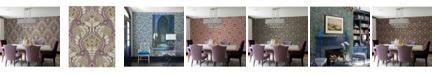 "Brewster Home Fashions Night Bloom Damask Wallpaper - 396"" x 20.5"" x 0.025"""