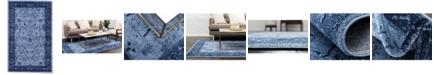 Bridgeport Home Aldrose Ald4 Blue 5' x 8' Area Rug