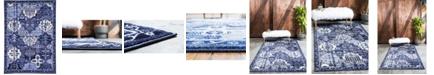 Bridgeport Home Aldrose Ald1 Blue 7' x 10' Area Rug
