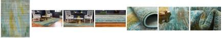 Bridgeport Home Adah Ada2 Turquoise 9' x 12' Area Rug