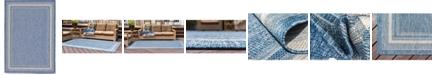 "Bridgeport Home Pashio Pas5 Blue 8' x 11' 4"" Area Rug"
