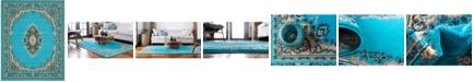 Bridgeport Home Birsu Bir1 Turquoise 8' x 10' Area Rug
