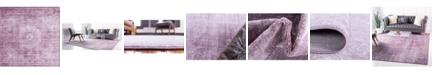 Bridgeport Home Anika Ani1 Violet 8' x 8' Square Area Rug