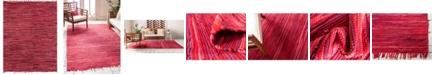 Bridgeport Home Jari Striped Jar1 Red 8' x 10' Area Rug