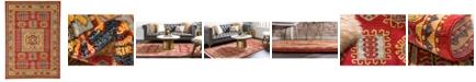 Bridgeport Home Harik Har6 Red 7' x 10' Area Rug