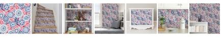 "NuWallpaper 20.5"" x 2592"" Dream on Red Peel Stick Wallpaper"
