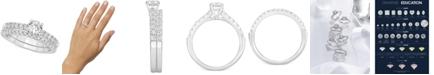 GIA Certified Diamonds GIA Certified Diamond Bridal Set (1 ct. t.w.) in 14k White Gold