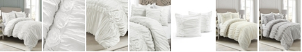 Lush Decor Darla Ruched 3-Piece King Comforter Set